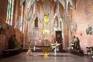 Altar de Ámbar en la Iglesia de Santa Brígida en Gdansk