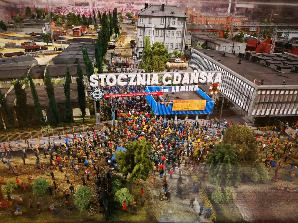 La sala de Seguridad y Salud en Gdansk, maqueta del Astillero de Gdansk Foto Ania Anna Kotula de Tour Guide Service Gdansk