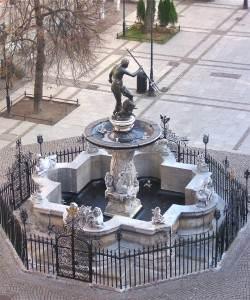 Fuente de Neptuno en Gdansk