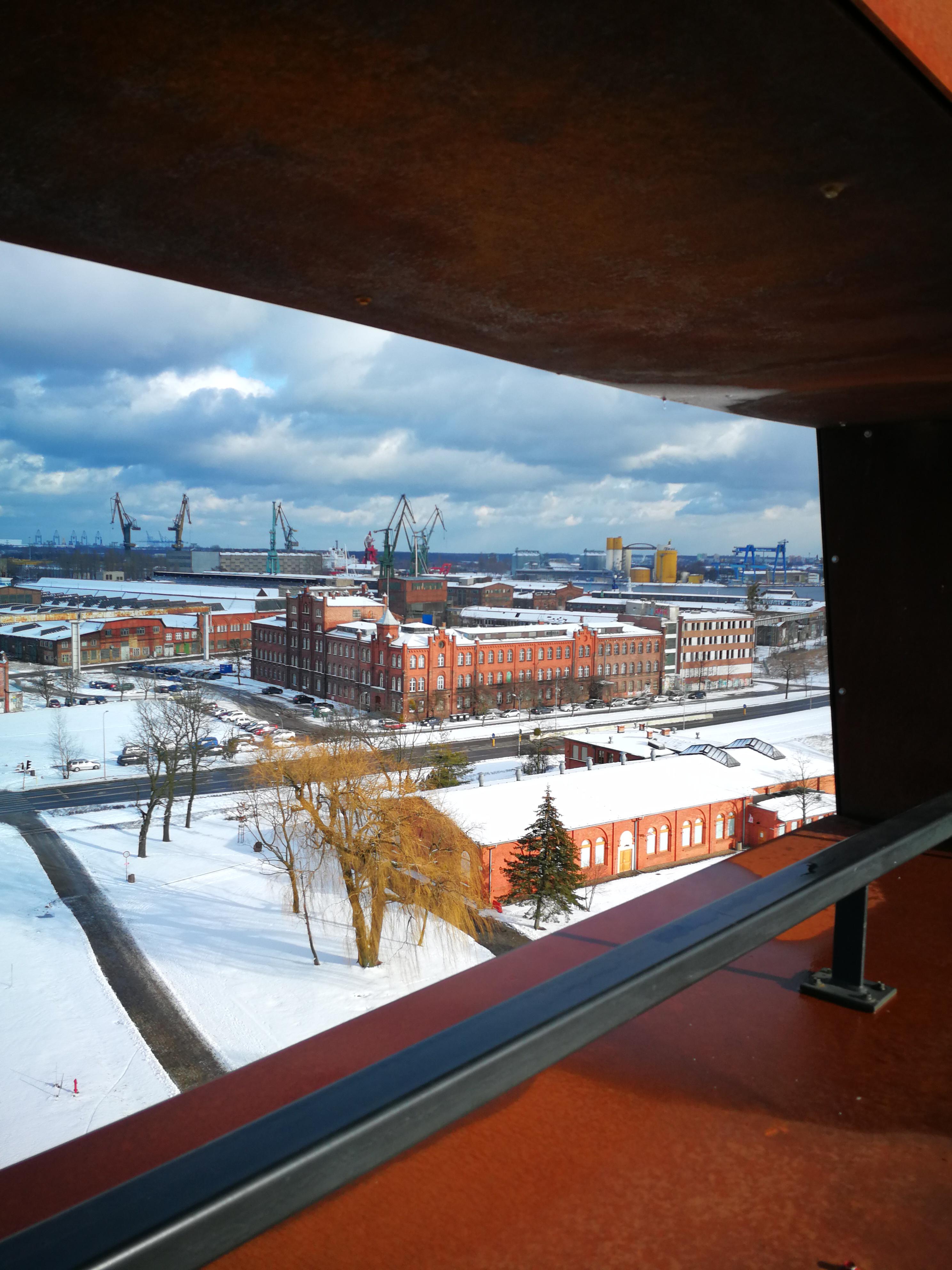 Vista desde el mirador del Centro Europeo de la Solidaridad; Foto Ania Anna Kotula de Tour Guide Service Gdansk